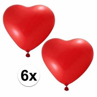 Rode hartjes ballonnen