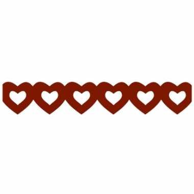 Rode hartjes slinger van papier