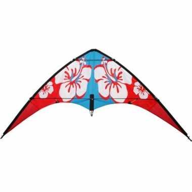 Rode hibiscus stuntvlieger 115 x 50