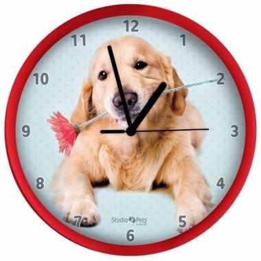 Rode hondenklok golden retriever