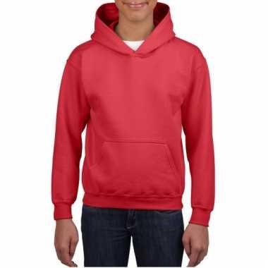 Rode hooded jongens sweater