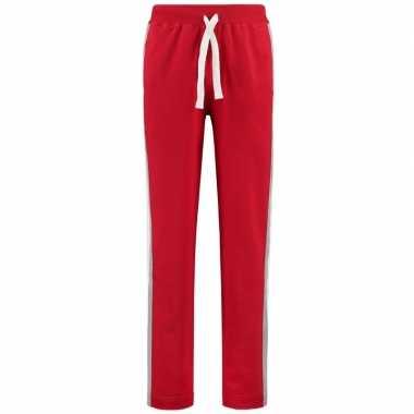Rode joggingbroek/huisbroek met streep voor dames