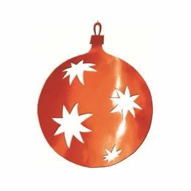 Rode kerstbal hangdecoratie 30 cm