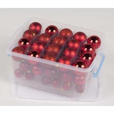 Rode kerstballen 70 stuks