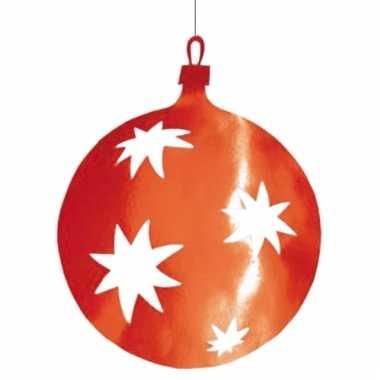 Rode kerstballen hangdecoratie 40 cm