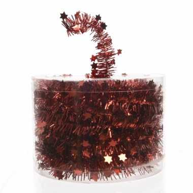 Rode kerstboomslinger 700 cm