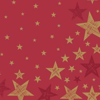Rode kerststerren kerst servetten