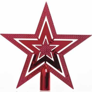 Rode kerstversiering piek 20 cm