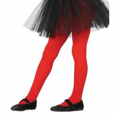 Rode kinder panty 5-9 jaar