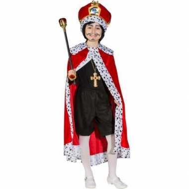 Rode konings cape voor kinderen