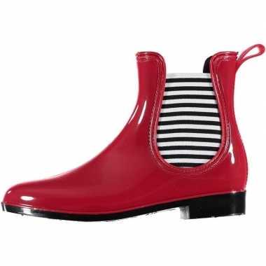 Rode korte dames regenlaarzen