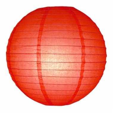 Rode lampion rond 25 cm