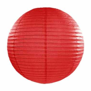 Rode lampion rond 35 cm
