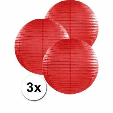 Rode lampionnen 35 cm 3 stuks