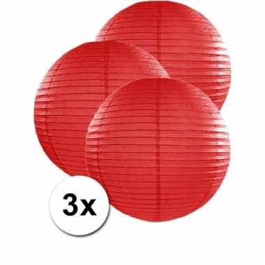 Rode lampionnen 50 cm 3 stuks