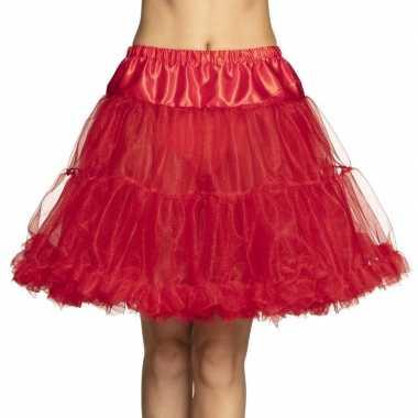 Rode lange petticoat voor dames