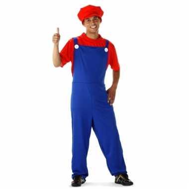 Rode loodgieter outfit voor heren