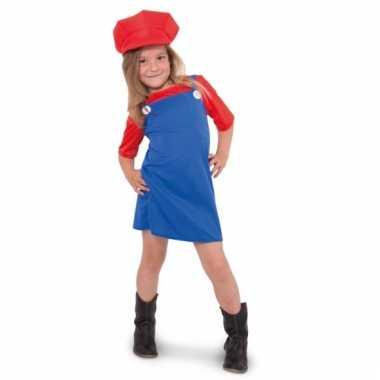 Rode loodgieter outfit voor meisjes