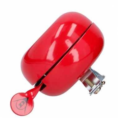 Rode metalen bel voor op de fiets