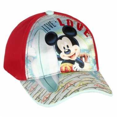 Rode mickey mouse cap voor kinderen