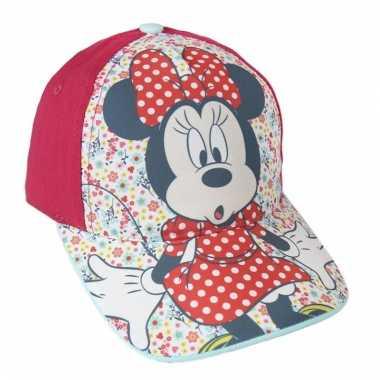 Rode minnie mouse cap voor meiden