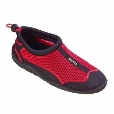 Rode neopreen waterschoenen voor dames