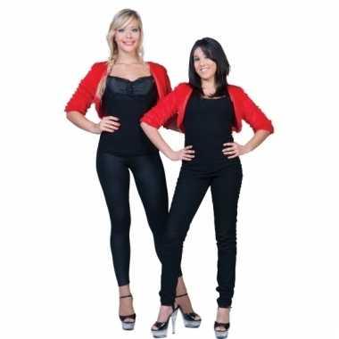 Rode nepbonten jasje voor dames