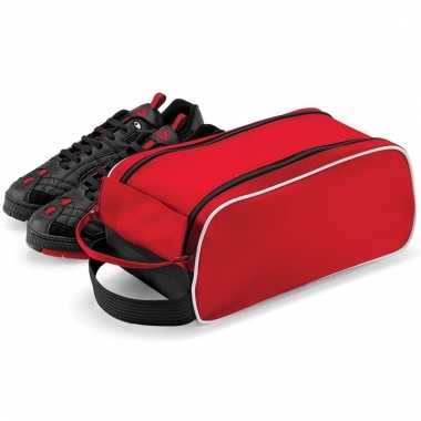 Rode opbergtas voor 1 paar schoenen
