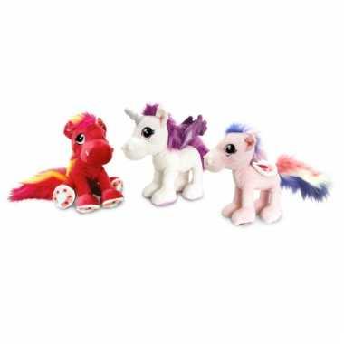 Rode paarden knuffel 30 cm