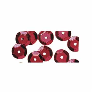 Rode pailletten 500 stuks