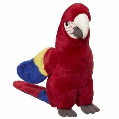 Rode papegaaien knuffels