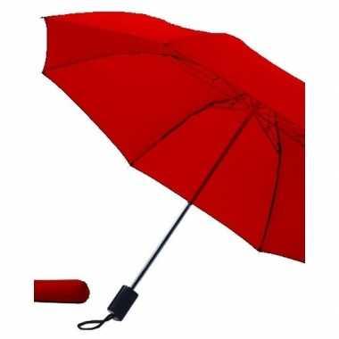 Rode paraplu uitklapbaar met hoes 85 cm
