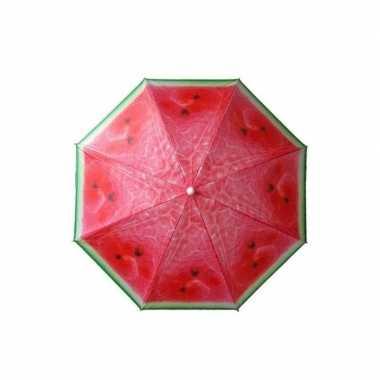 Rode parasol met watermeloen print 180 cm