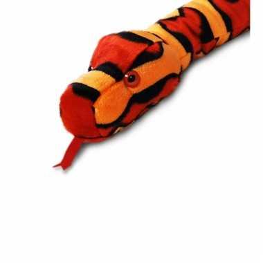 Rode pluche slang 200 cm