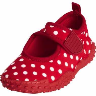 Rode polka dot surfschoenen voor meiden