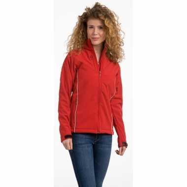 Rode polyester damesjas
