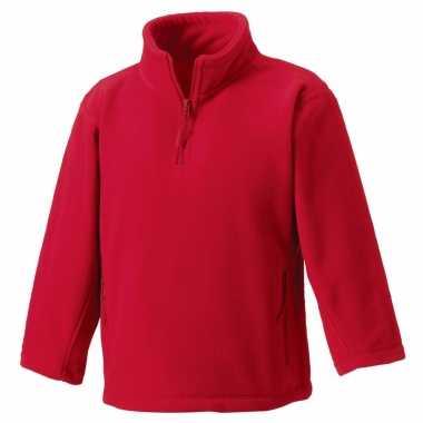Rode polyester fleece trui voor jongens
