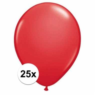 Rode qualatex ballonnen 25 stuks