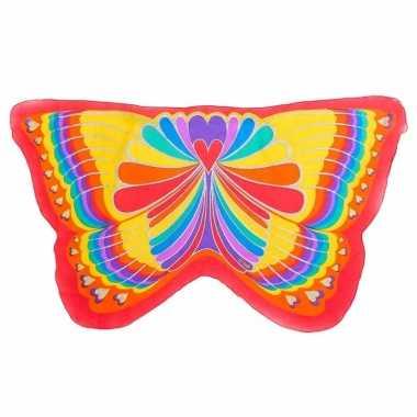 Rode regenboog vlinder kindervleugels
