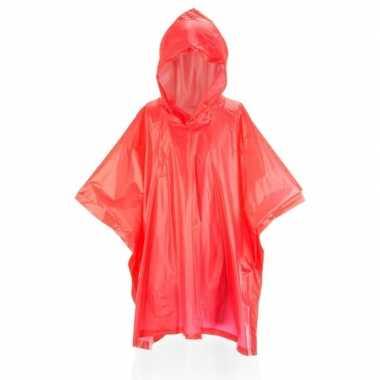 Rode regenponcho voor kids
