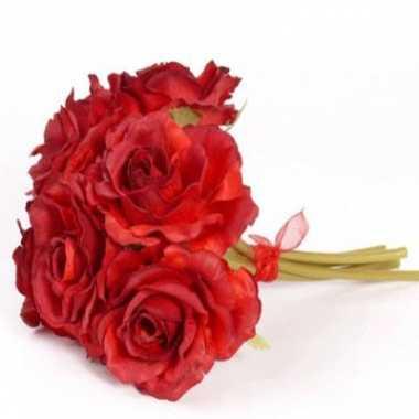 Rode rozen boeket 6 stuks