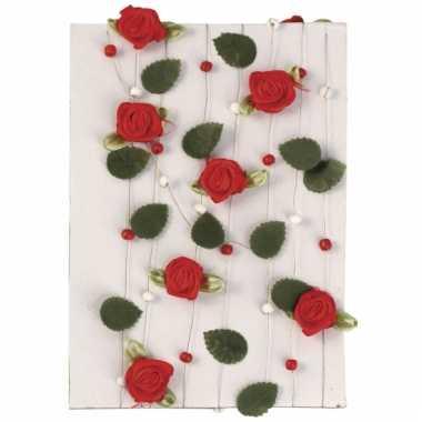 Rode rozen slingers 2 meter