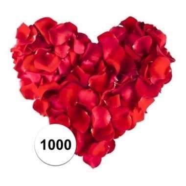 Rode rozenblaadjes 1000 stuks