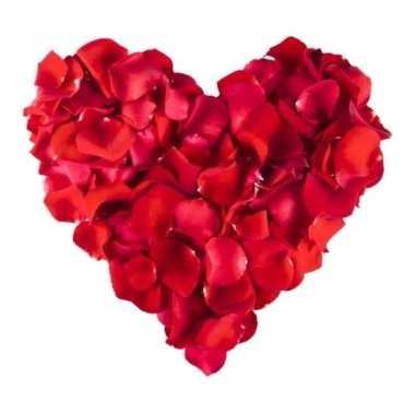 Rode rozenblaadjes 500 stuks