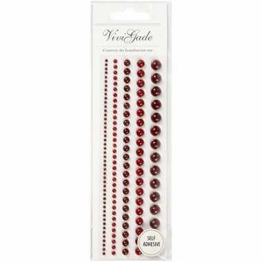 Rode schmink parels 140 stuks