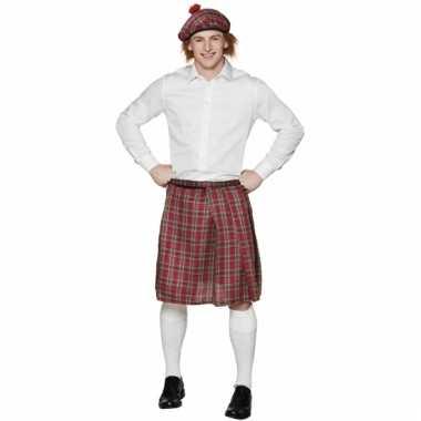 Rode schotse rok voor heren