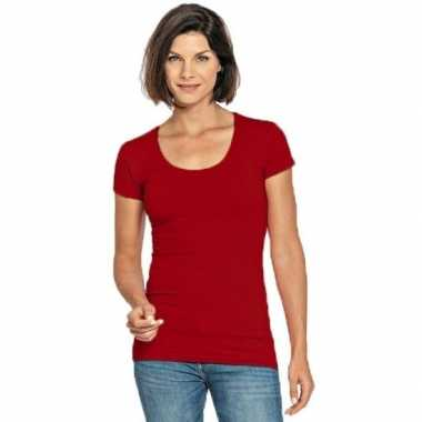 Rode shirt met ronde hals voor dames