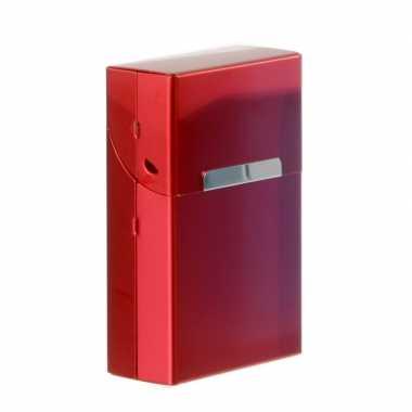Rode sigarettenbox aluminium