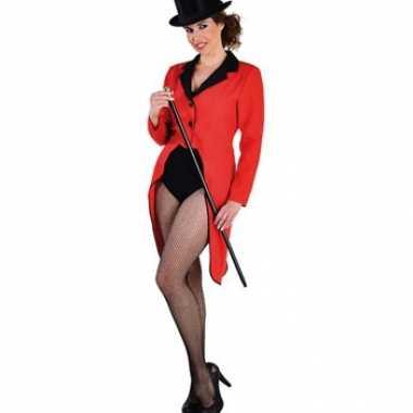 Rode slipjas voor dames