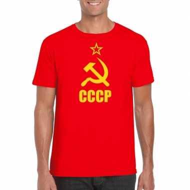 Rode sovjet-unie communistische shirt voor heren